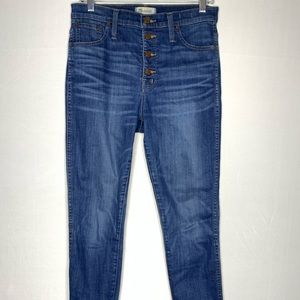 MADEWELL High Rise, Button Skinny Jeans